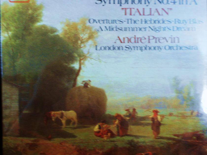 "FACTORY SEALED ~ ANDRE PREVIN ~  - MENDELSSOHN~SYMPHONY NO 4 IN ""ITALIAN""~LONDON SYMPHONY ORCHESTRA ~  ANGEL SZ 537614 (1979)"