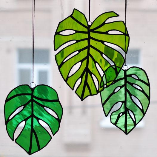 Витражная зелень «Монстера»