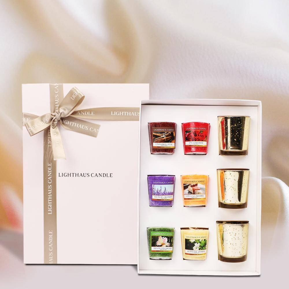 Votive candle gift box