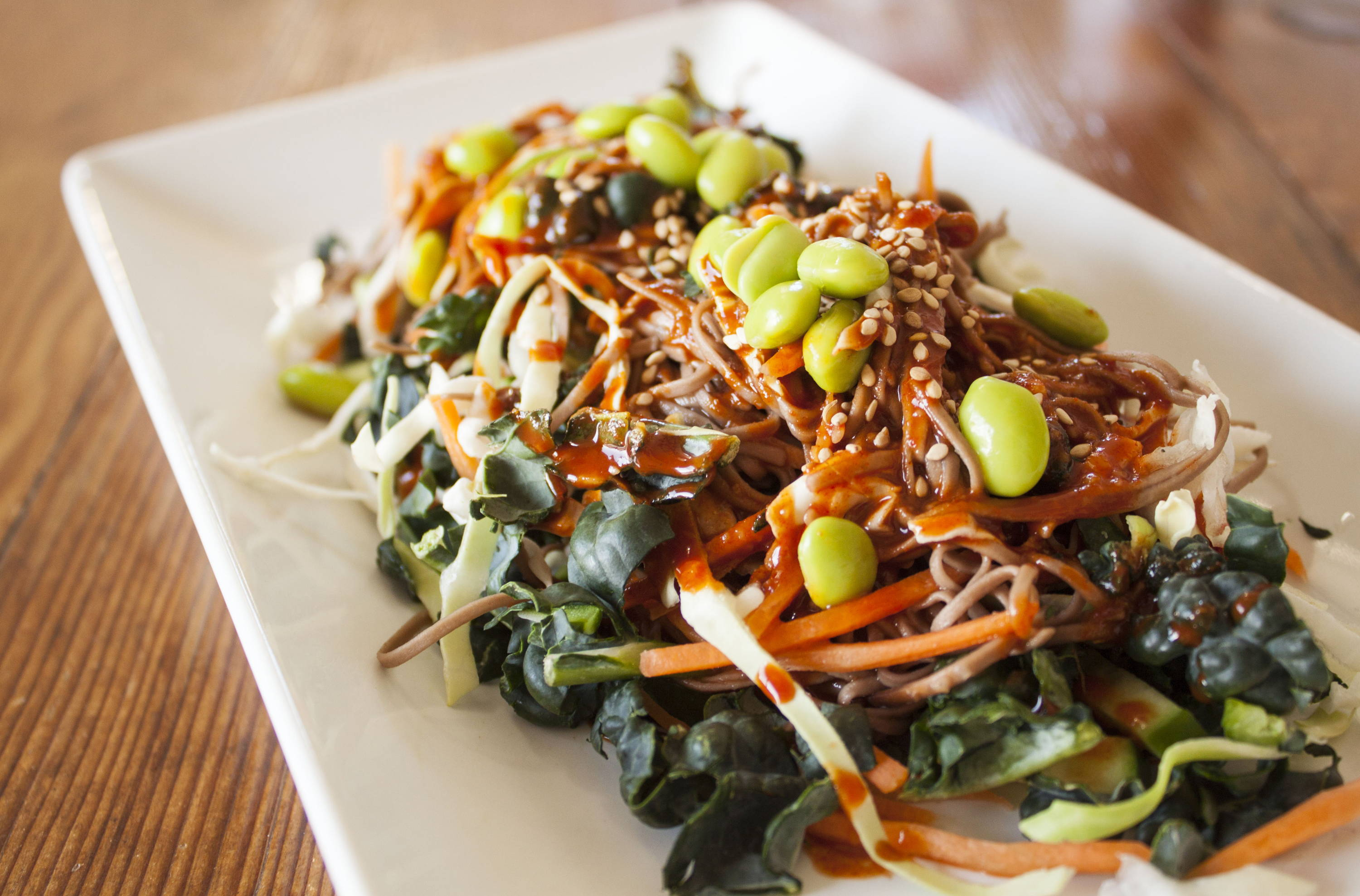 Soba Noodle Salad with spicy KPOP Sauce
