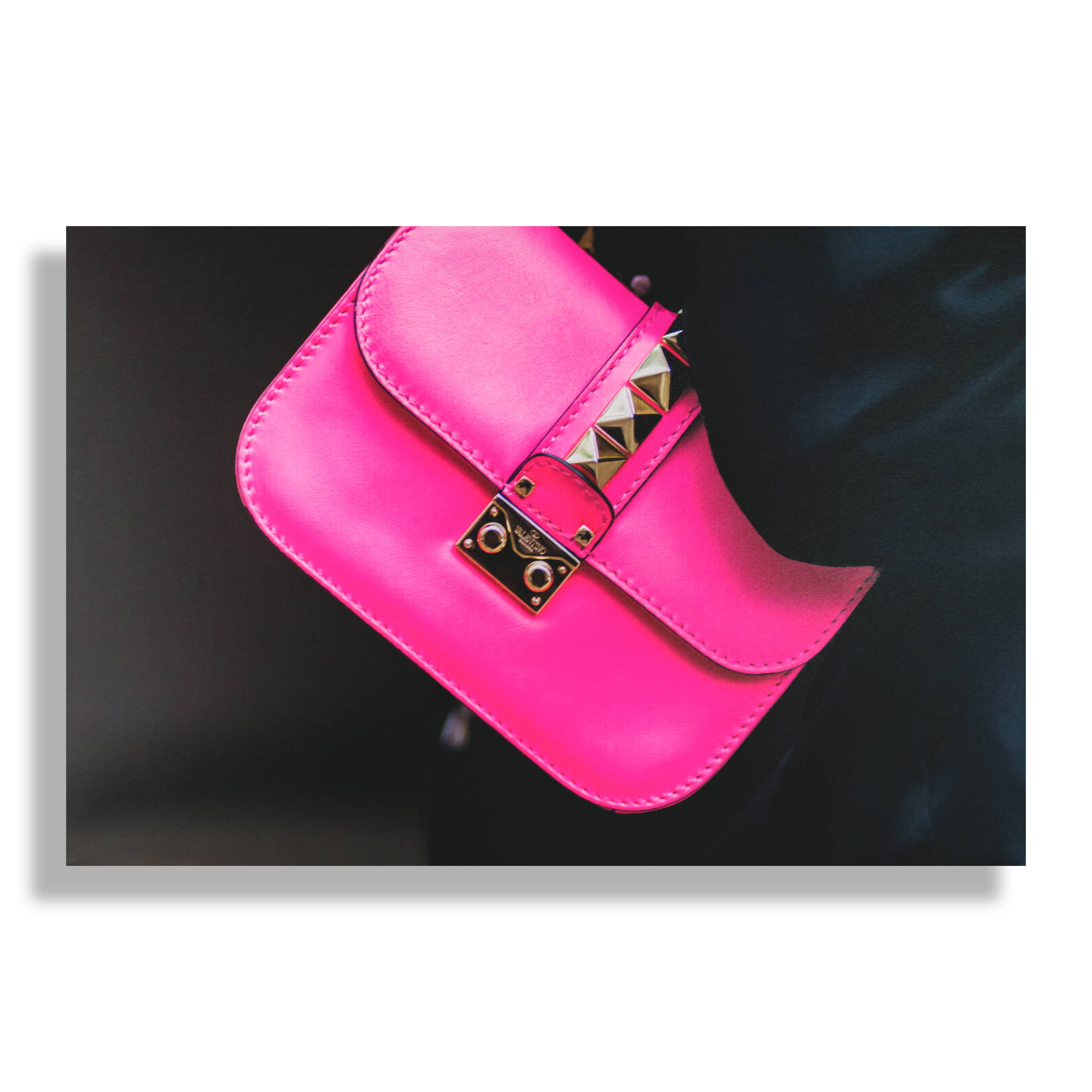 Fashion Wall Art Print - Fuchsia Fashionista - Recoveted