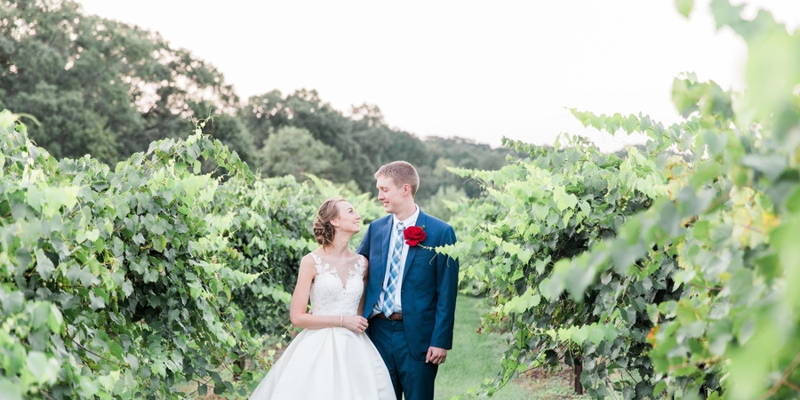 A Late-Summer Vineyard Wedding for High School Sweethearts