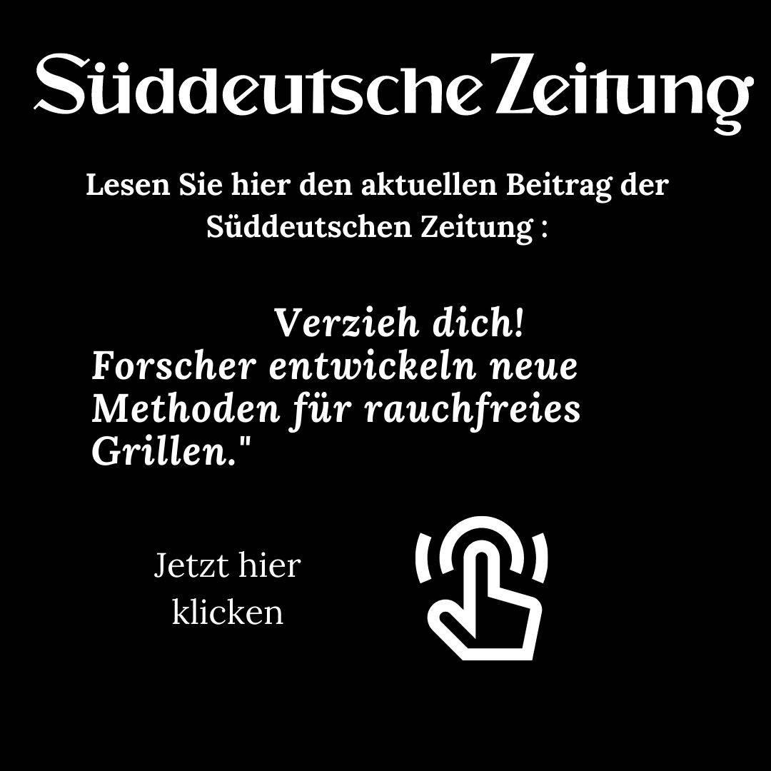 Süddeutsche Zeitung Rauchfreies Grillen mit feinstaubreduzierter Holzkohle