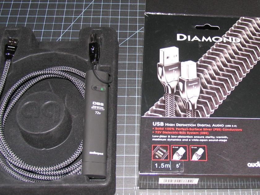 AudioQuest Diamond USB 1.5 meter Like New!