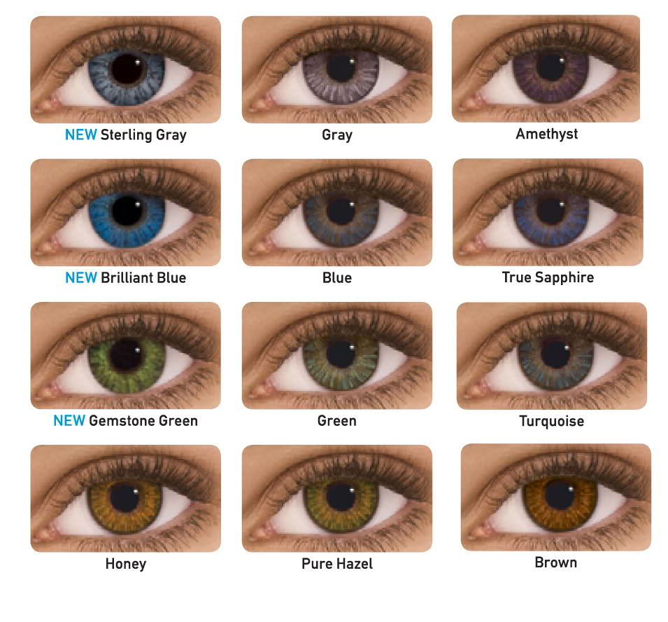 Freshlook Colored Contacts, perfect for brown or dark eyes