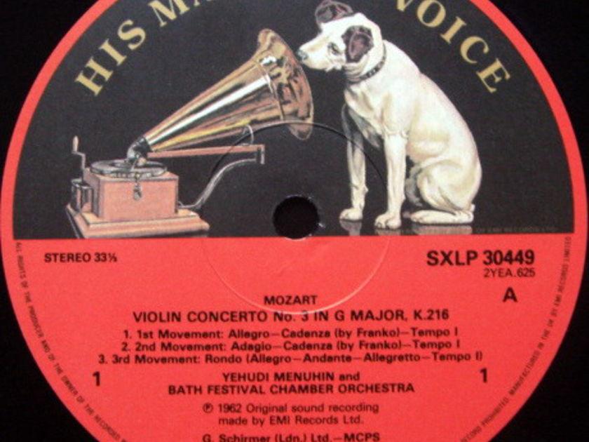 EMI ASD SEMI-CIRCLE / MENUHIN, - Mozart Mozart, Violin Concertos No.3 & 5, MINT!
