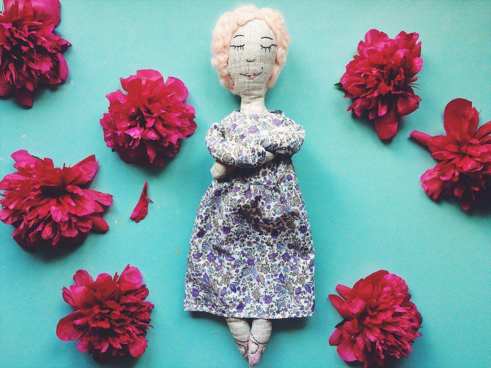 Текстильная кукла Марья
