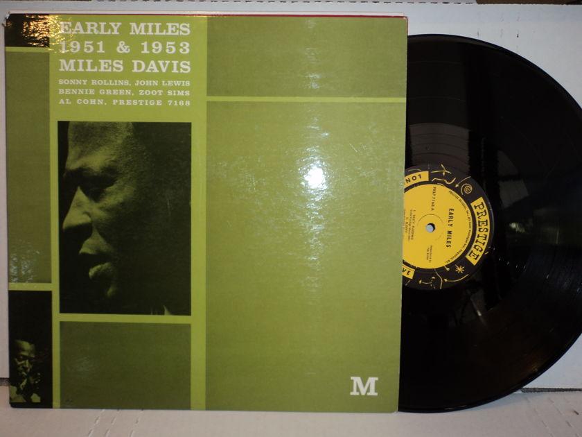 Miles Davis Early Miles (rare) - Early Miles 1951 & 1953 Sonny Rollins, John Lewis, Bennie Green, Zoot Sims, Al Cohn  Original Prestige 7168 Mono 1st press