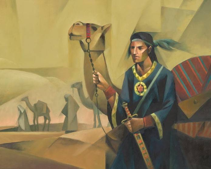Modern LDS art painting of Nephi.