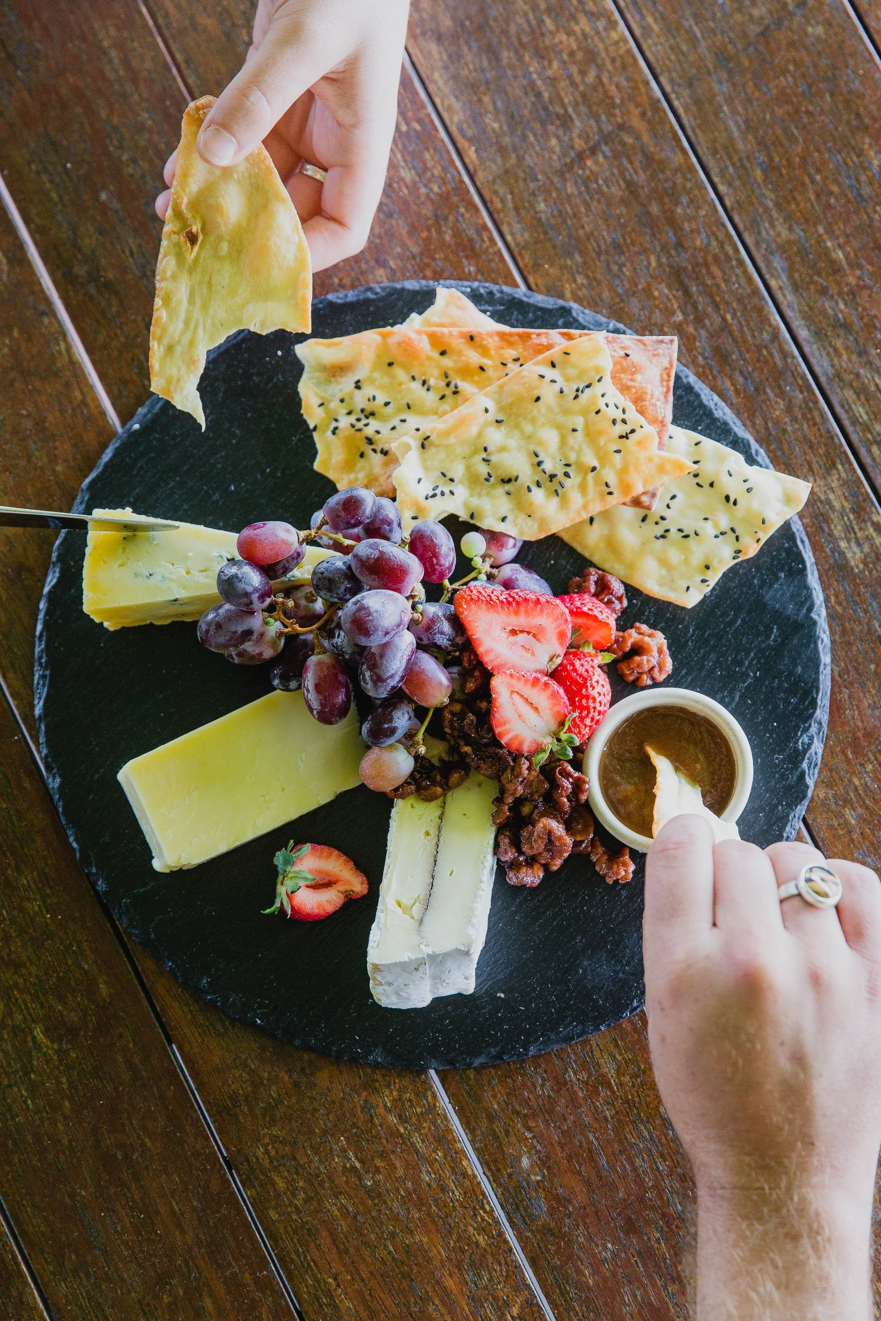 Cheese dip at Peterson House in Hunter Valley Winery