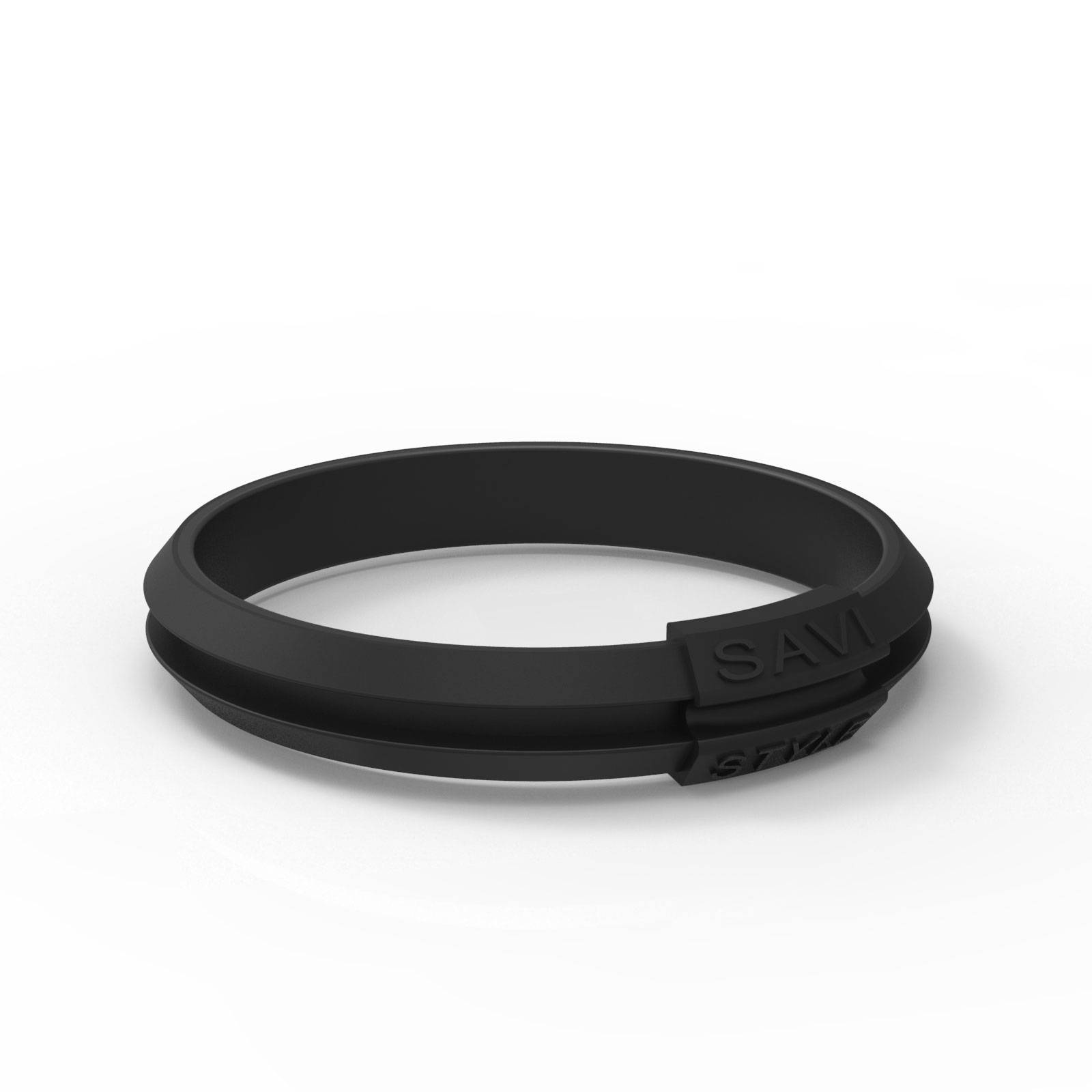 savi sleek agile black by savistyle hair tie bracelet single view