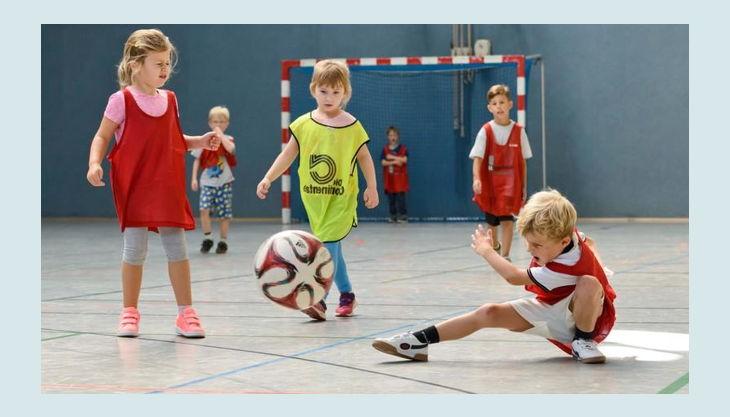 fussball voller einsatz