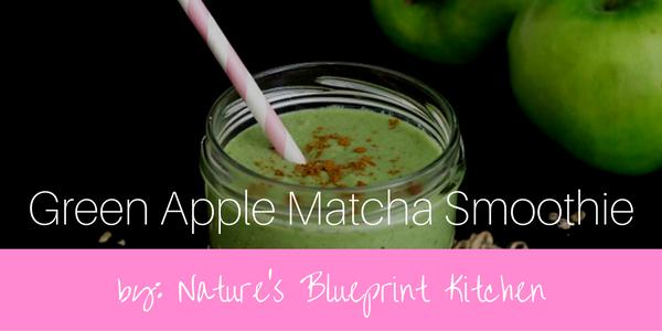 Matcha recipe green apple matcha smoothie natures blueprint malvernweather Choice Image