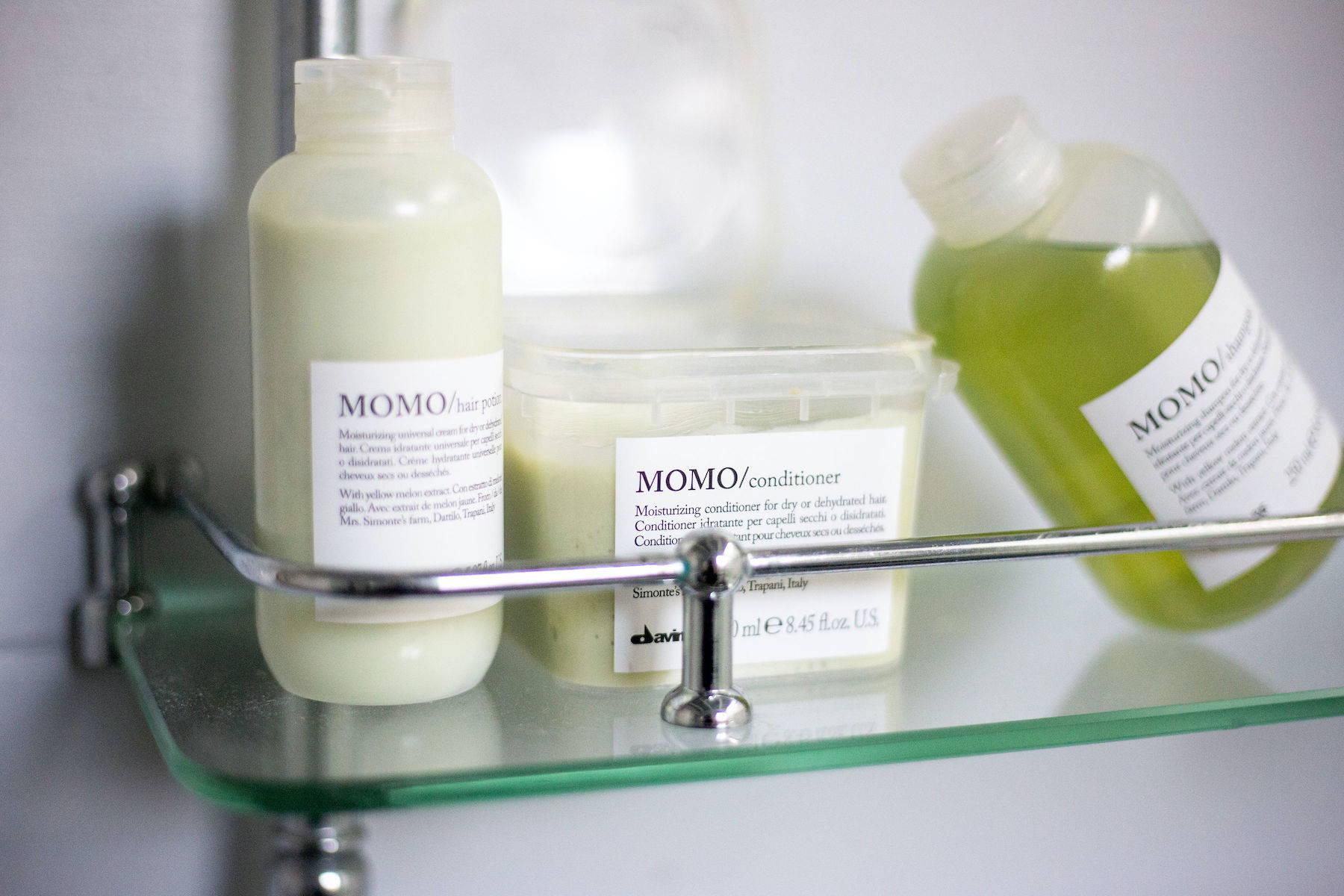Davines MOMO moisturizing hair products