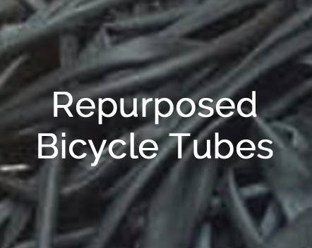 repurposed bicycle tubes