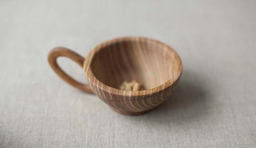 Чашка деревянная - вяз. Набор посуды