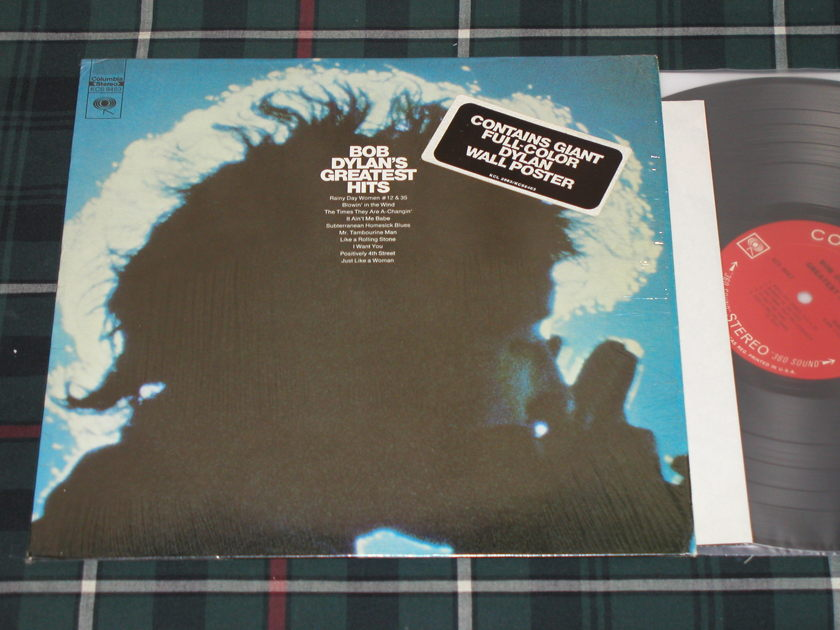 "Bob Dylan - ""BOB DYLAN'S GREATEST HITS"" In Shrink w/Sticker + POSTER  KCS 9463 <360> labels!"