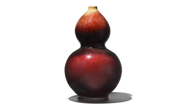 Sang De Boeuf Double Gourd Porcelain Vase | Indigo Antiques