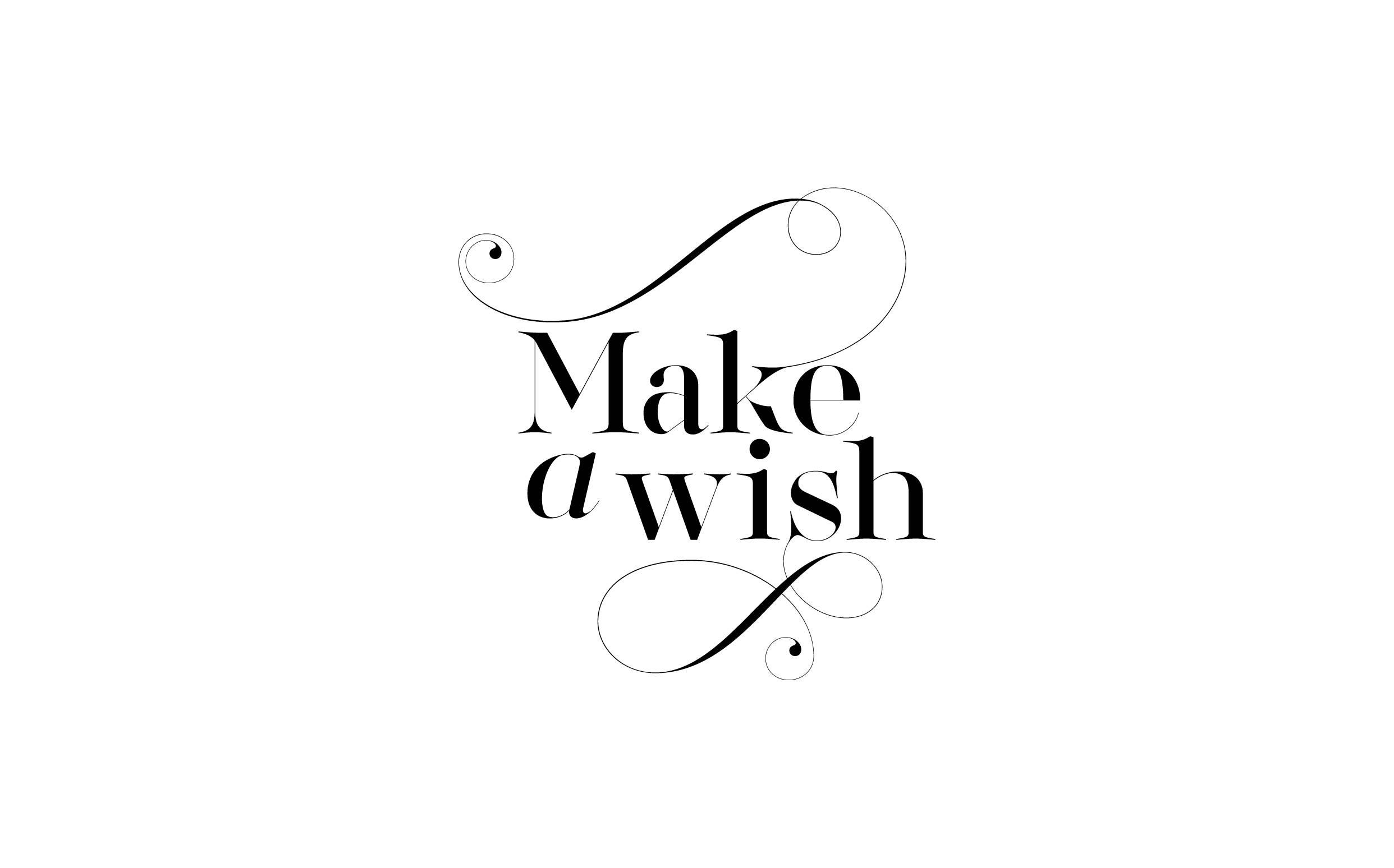 Make a wish - Custom sexy type collection by Moshik Nadav Typography