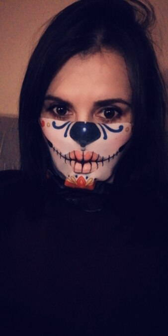 cache cou skull femme client