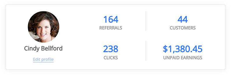 RentCast affiliate dashboard - referral statistics