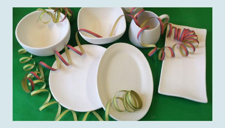mal werk kindergeburtstag blanco weiß keramik gefäße