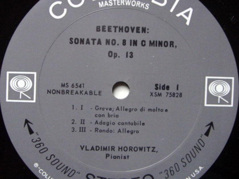 Columbia 2-EYE / VLADIMIR HOROWITZ,  - Beethoven Piano Sonata No.8 Pathetique, EX!
