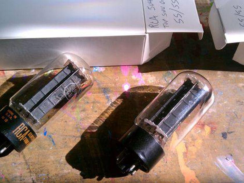 Rca 5u4GB  rectifier black plates pair