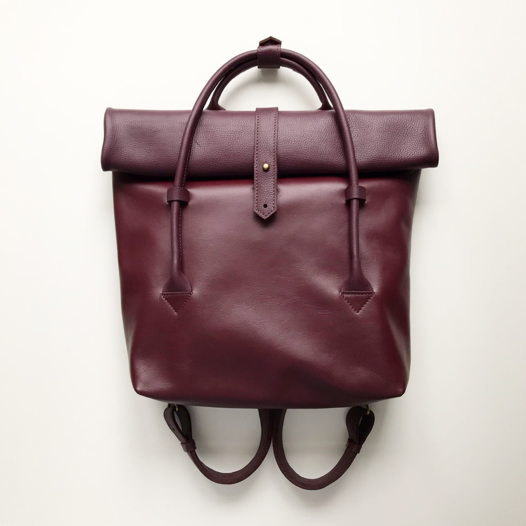 Кожаный рюкзак-сумка Rolltop Vineyard