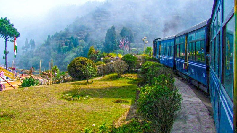 Hill train in Darjeeling, India