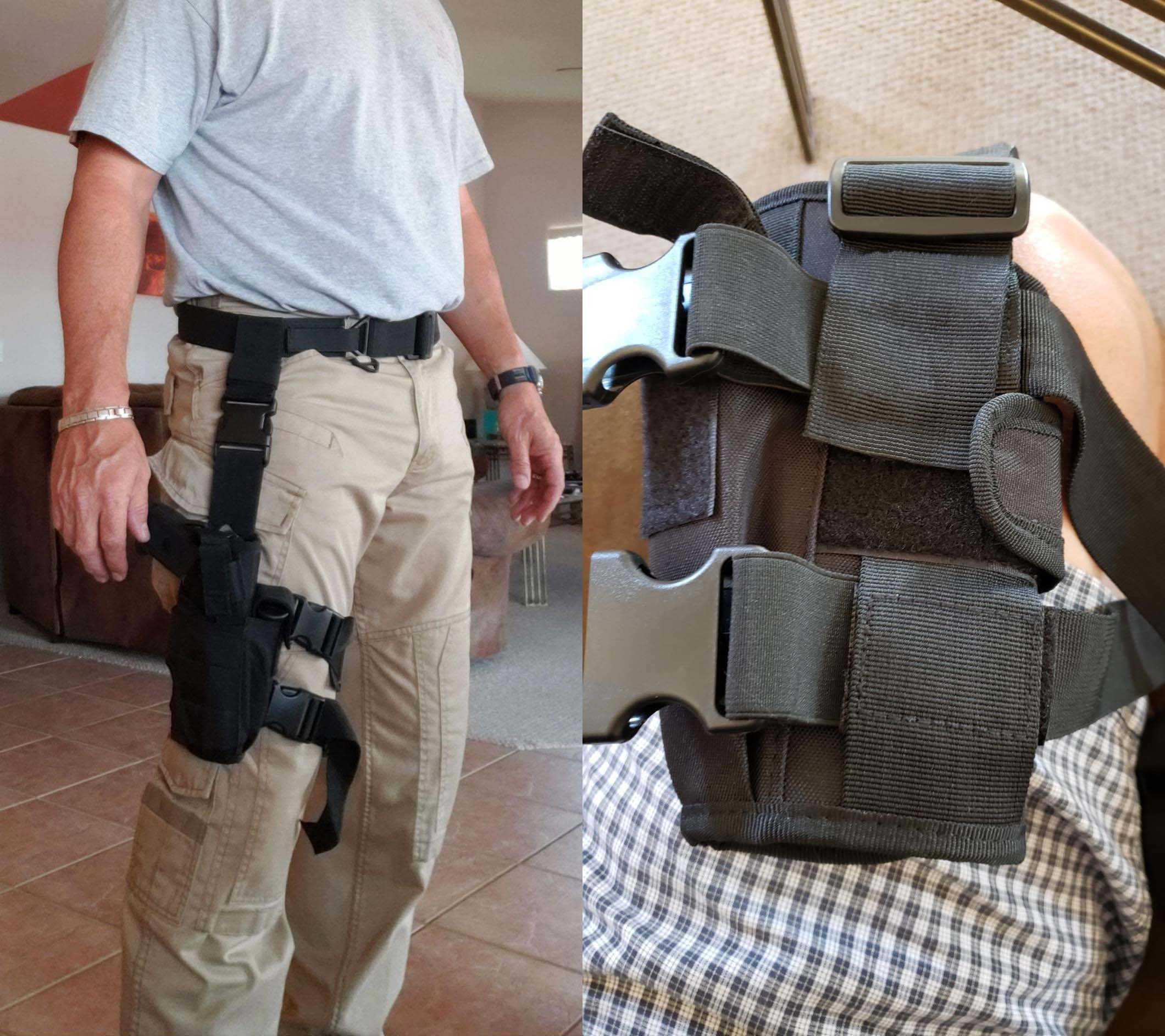 shoulder holster review, shoulder holster for men, shoulder holster for fat guy, right hand shoulder holster