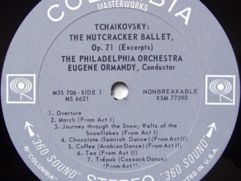Columbia 2-EYE / EUGENE ORMANDY, - Tchaikovsky Nutcracker Suite, NM!