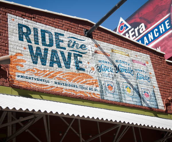Exterior Vinyl Wall Wrap - Ride The Wave Wall Wrap