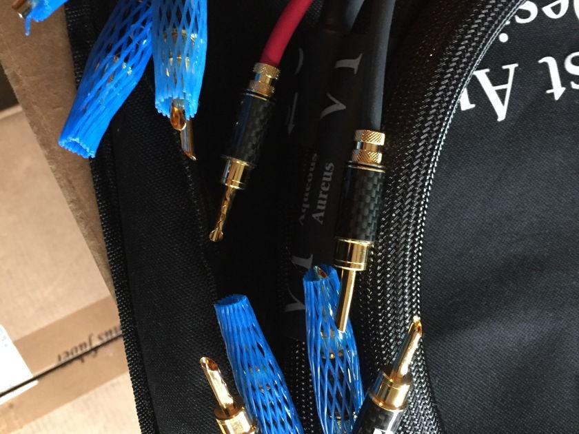 Purist Audio Design Aqueous Aureus-Luminist 2n bi-wire Mint customer trade-in