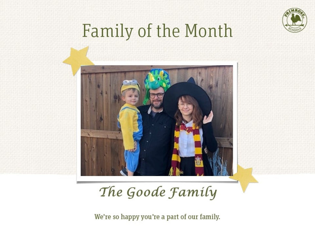October's family of the month!