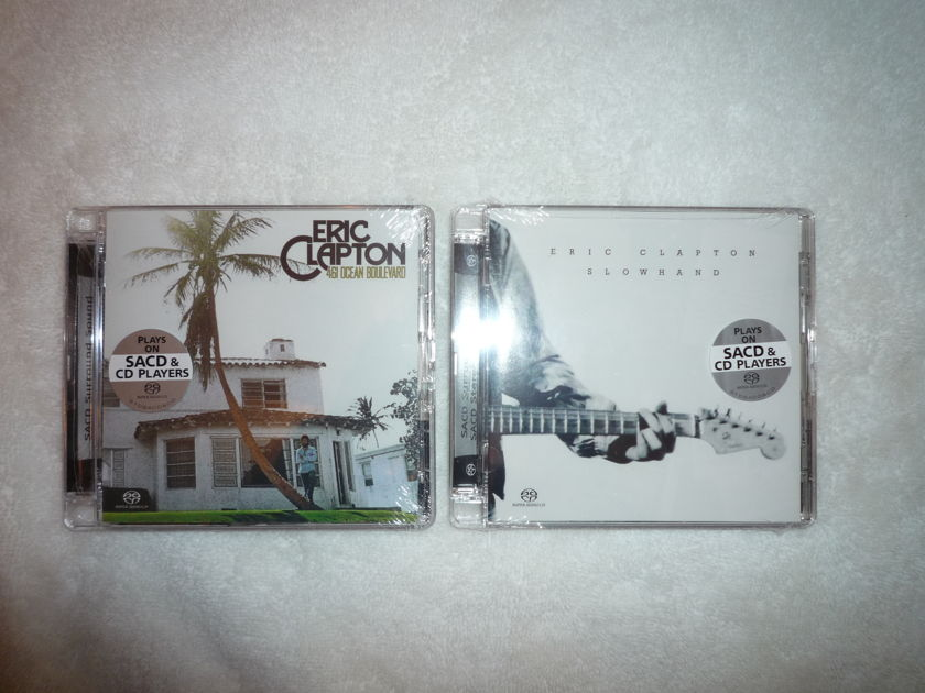 Eric Clapton new SACDs (2) - Slowhand and 461 Ocean Blvd  2 sealed SACDs