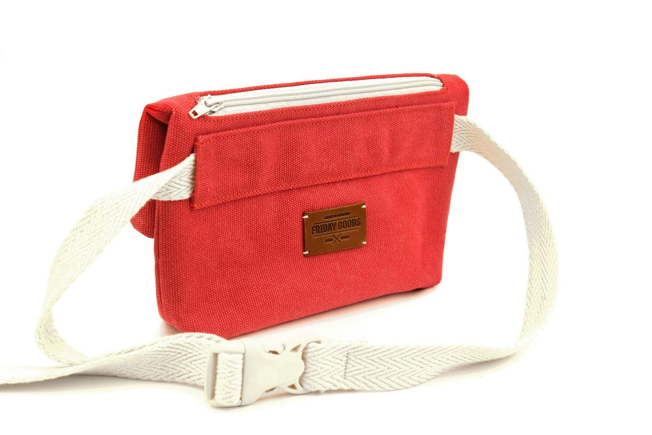 Поясная сумка из канваса, красная, оригинальная в магазине «Friday ... 081e82f88c4