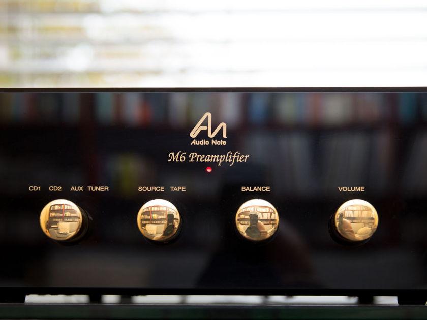 Audio Note UK M-6 Line Preamp (Balanced) Black