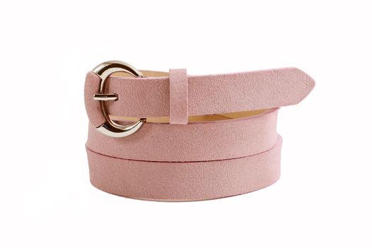 Замшевый ремень (розовый)