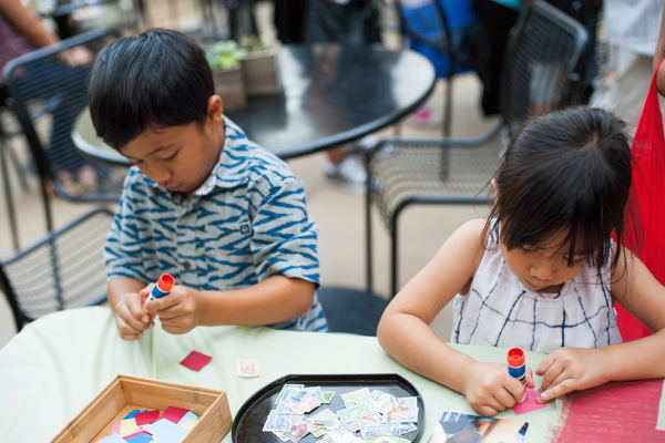 Kids enjoying pre-concert crafting before the show!