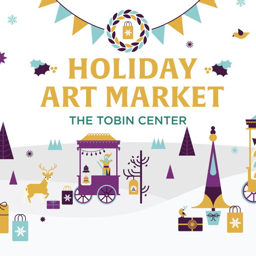 Picture of Join us for our 4th Annual Holiday Art Market brought to you by the Tobin Center for the Performing Arts. This FREE event is an outdoor market focusing on fine arts and high-end artisan products, with fun for all ages!
