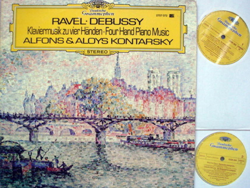 DG / Ravel & Debussy Four Hand Piano Music, - KONTARSKY, MINT, 2LP Set!