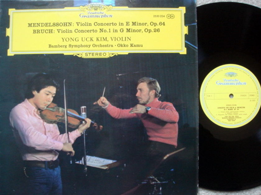 DG / YONG UCK KIM-KAMU, - Bruch-Mendelssohn Violin Concertos, MINT, UK Press!