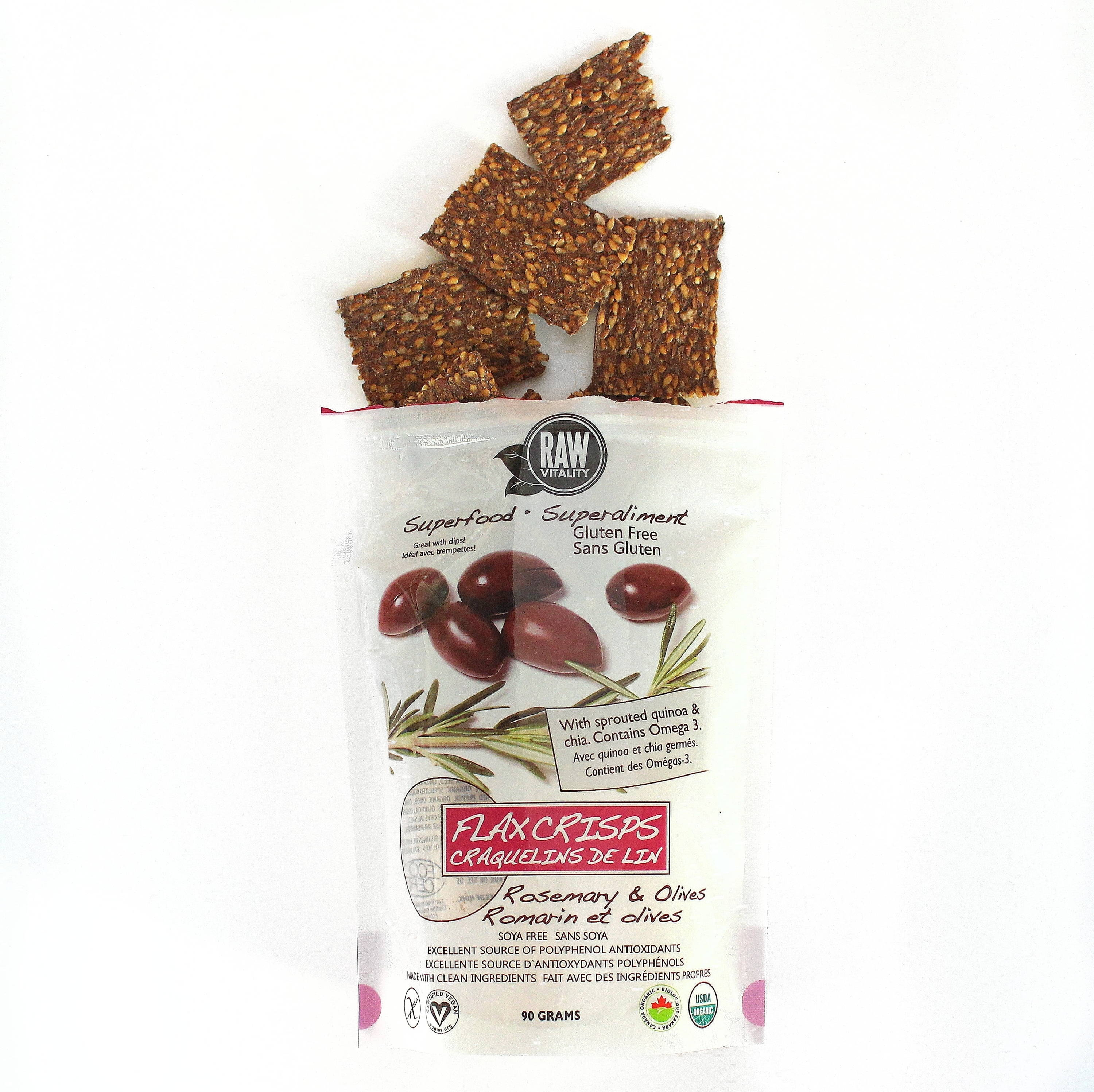 raw vitality crisps olives romarin