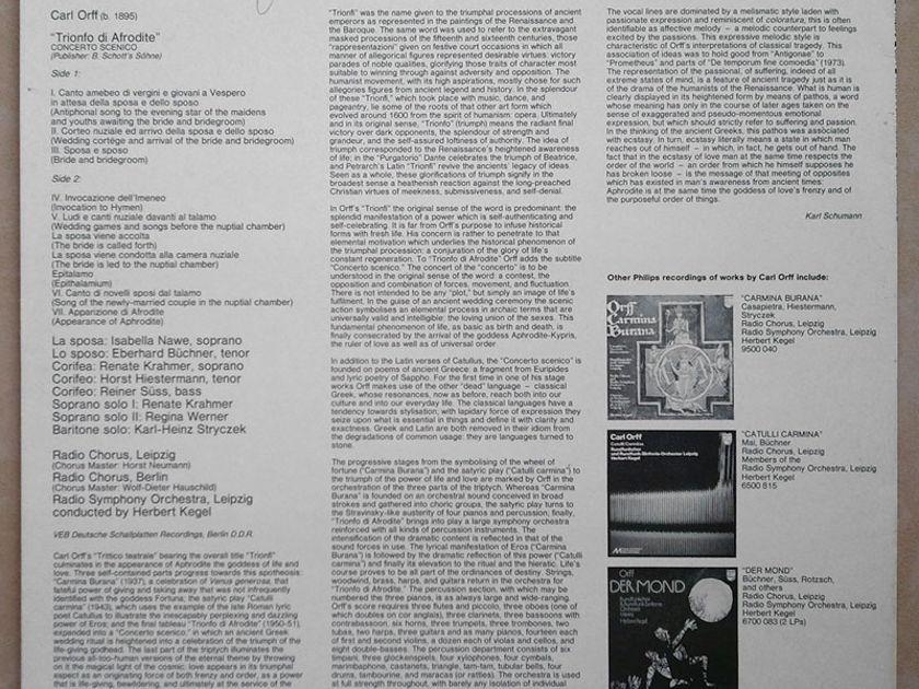 PHILIPS   KEGEL/ORFF - Trionfo di Afrodite / NM