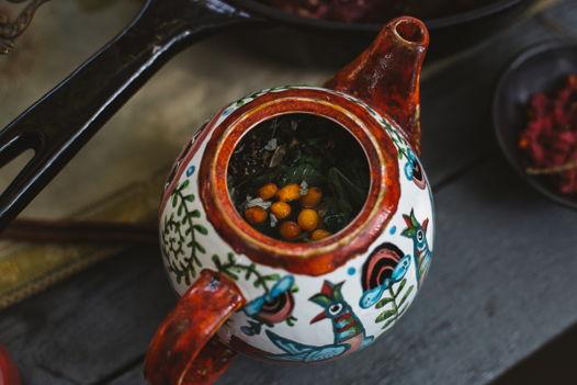 Керамический чайник Сказка с птицами