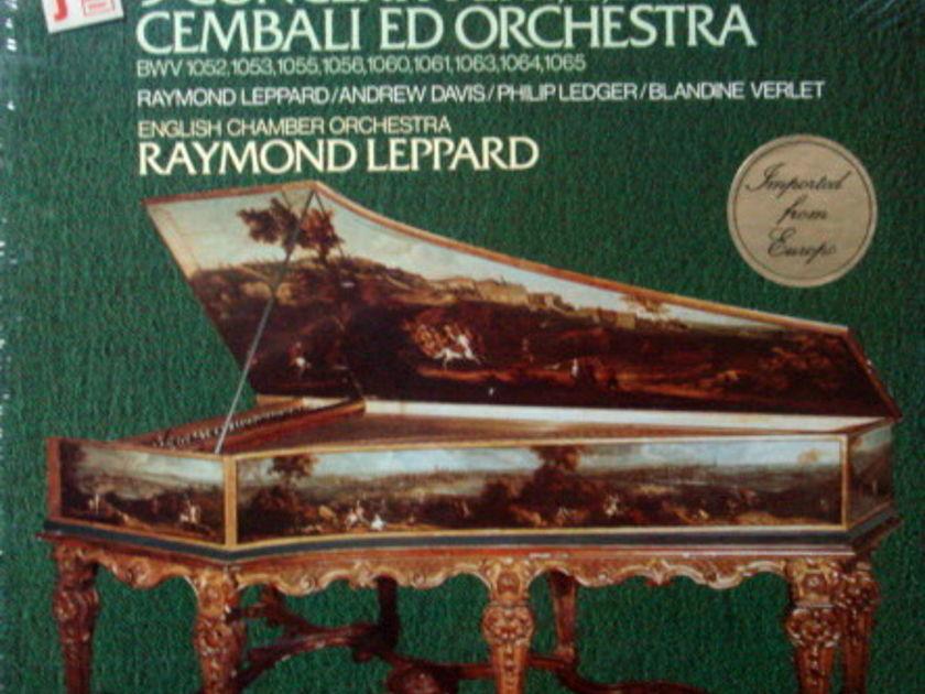 ★Sealed★ Philips / LEPPARD, - Bach 9 Concertos for 1,2,3 & 4 Harpsichords, 3LP Box Set!