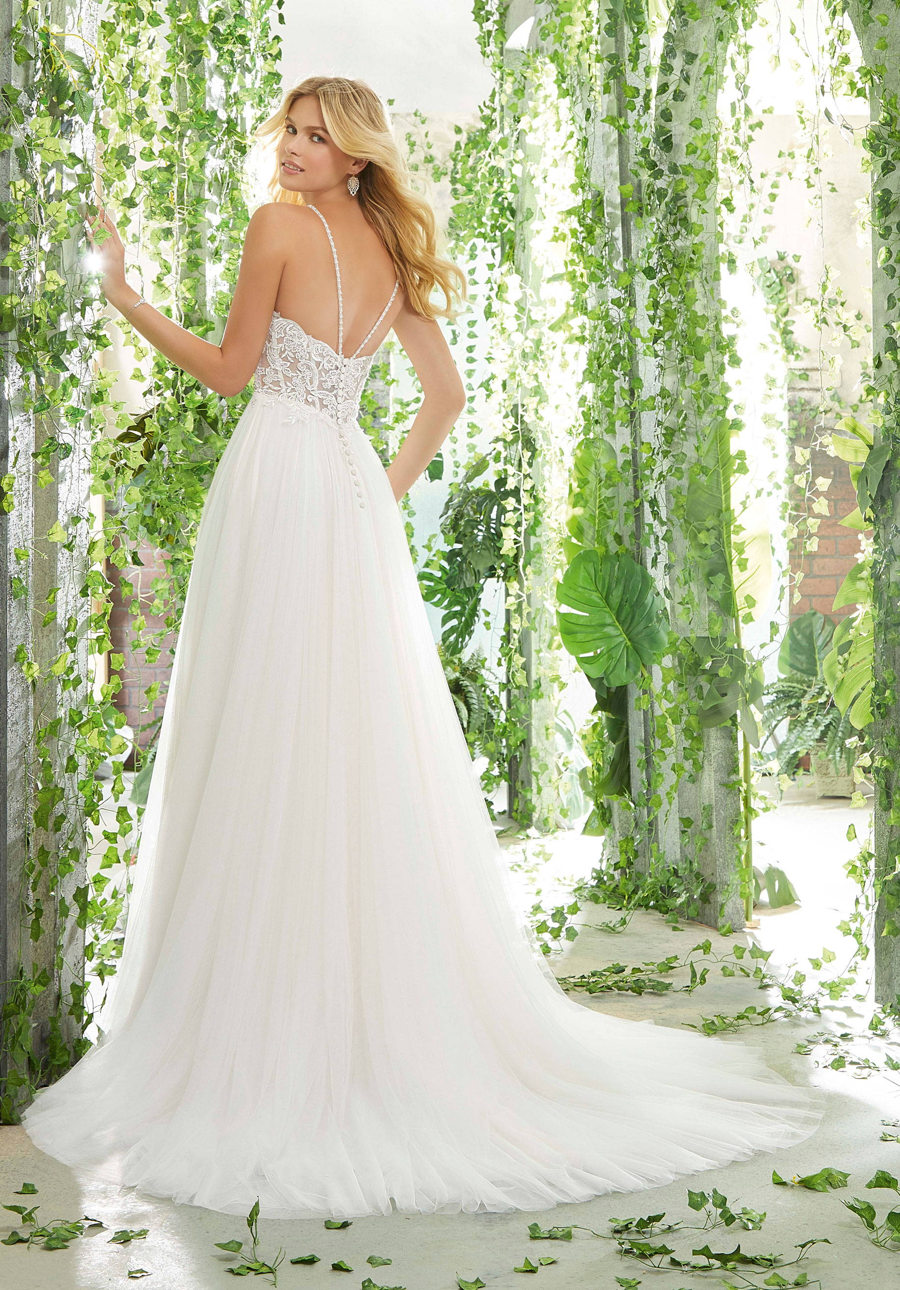 MORI LEE 6907  WEDDING DRESS