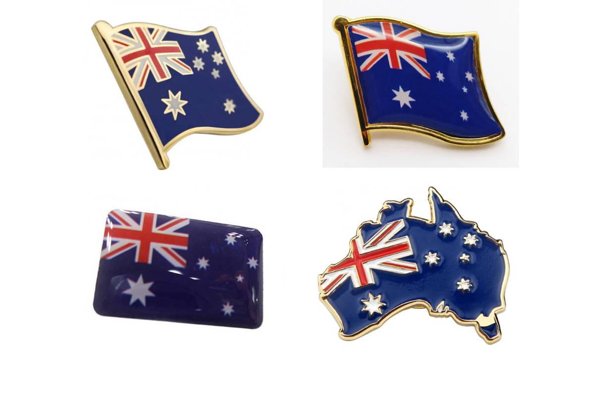 Australian Flag Lapel Pins for Custom Corporate