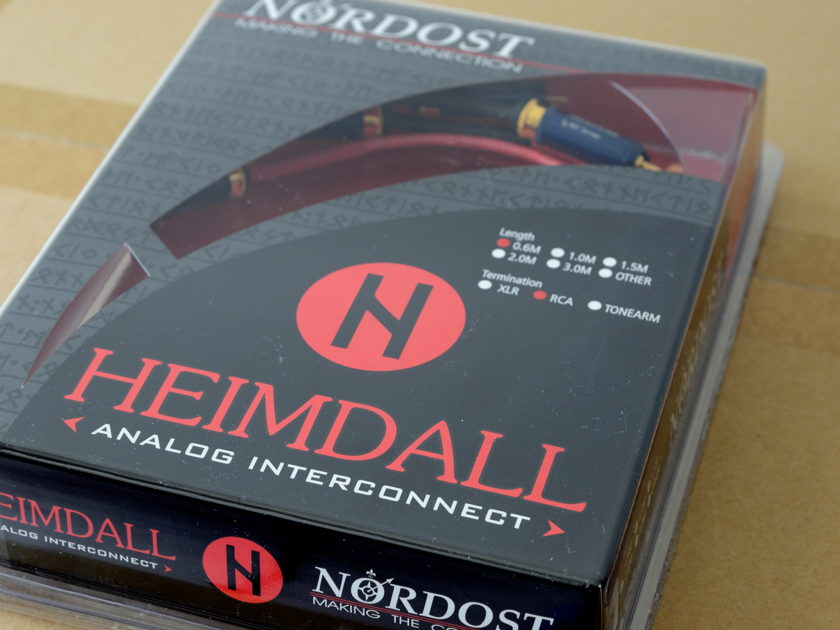 Nordost Heimdall Analog Interconnect 0.6M RCA